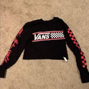 Vans Long sleeve crop top! XSmall
